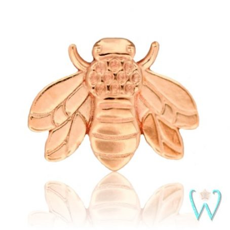Wish and Whim Jewelry, 14K Rose Gold Bee Stud Earring