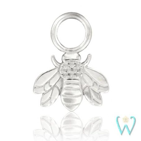 Wish and Whim Jewelry, 14KW Bee Earring Charm