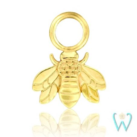 Wish and Whim Jewelry, 14KY Bee Earring Charm