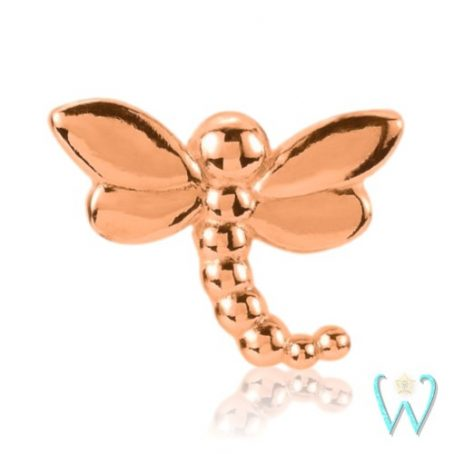 Wish and Whim Jewelry, 14KR Dragonfly Stud Earring