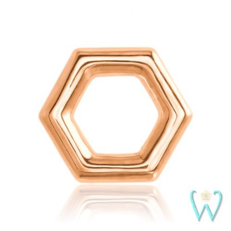Wish and Whim Jewelry, 14KR Honeycomb Stud Earring