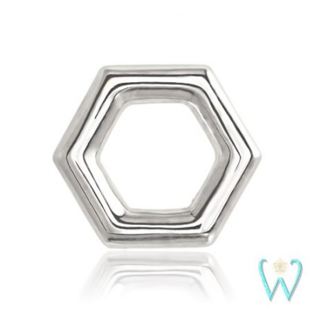 Wish and Whim Jewelry, 14KW Honeycomb Stud Earring