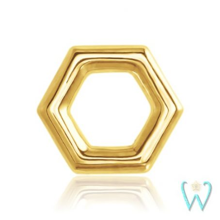 Wish and Whim Jewelry, 14KY Honeycomb Stud Earring